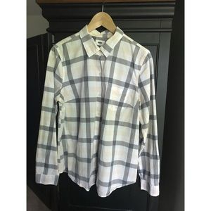 Old Navy Spring Plaid Button-up Blouse
